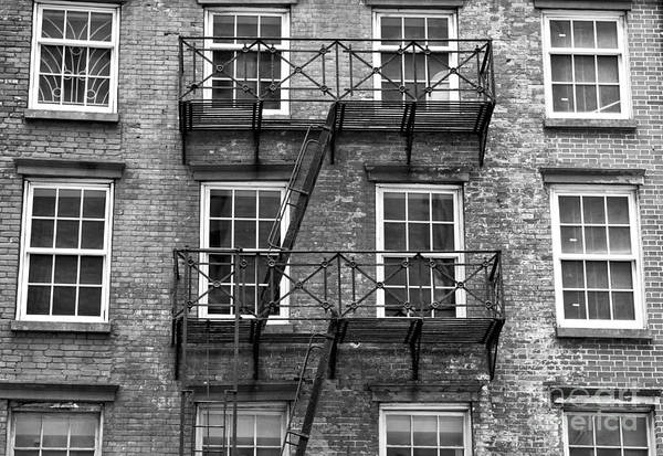 Wall Art - Photograph - Downtown Fire Escape by John Rizzuto