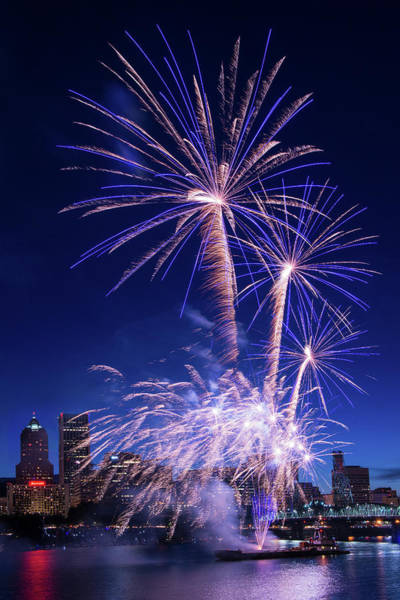 Wall Art - Photograph - Downtown Fireworks by Patrick Campbell