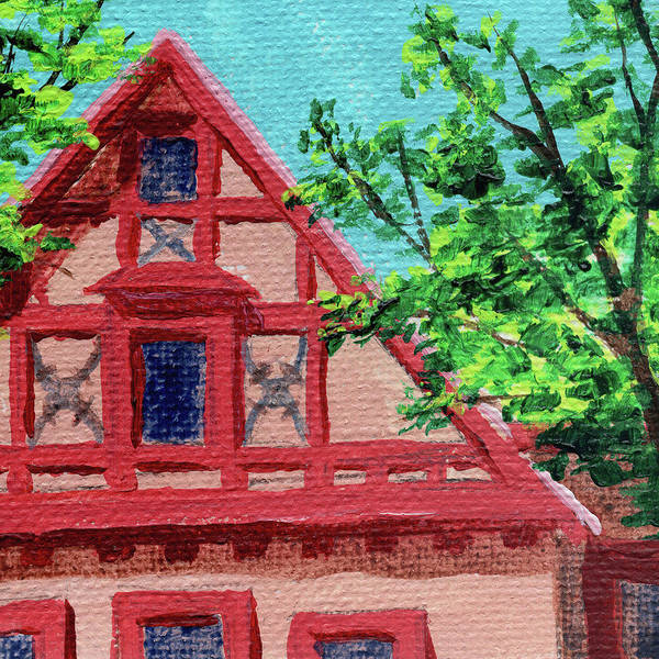 Painting - Downtown Frankenmuth Michigan Impressionistic Landscape Xii by Irina Sztukowski