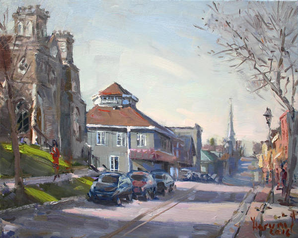 Church Painting - Downtown Georgetown On by Ylli Haruni