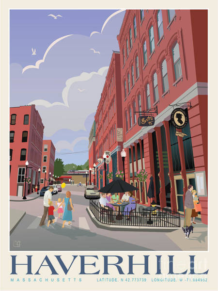 Wall Art - Painting - Downtown Haverhill Cultural District by Leslie Alfred McGrath