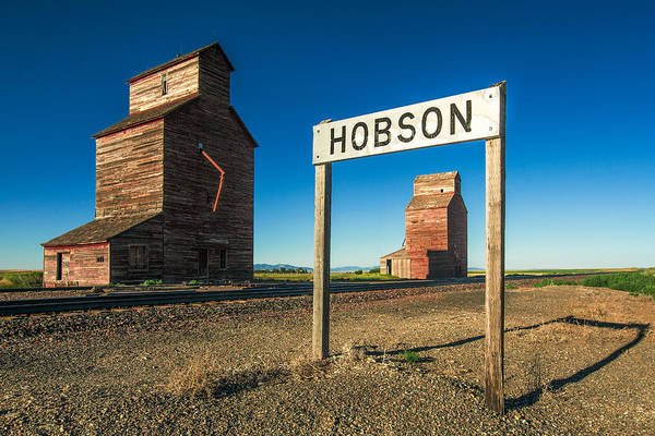 Silo Photograph - Downtown Hobson, Montana by Todd Klassy