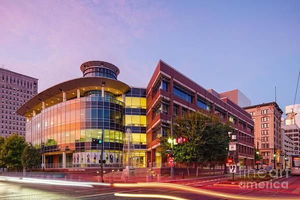 Photograph - Downtown Houston Skyline University Of Houston Commerce Street Building At Sunrise - Houston Texas by Silvio Ligutti