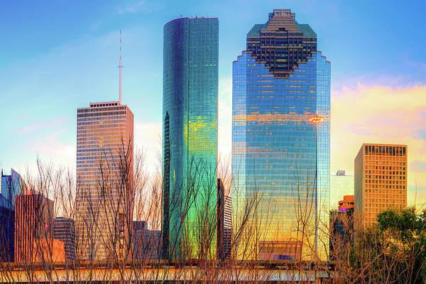 Photograph - Downtown Houston Texas Skyline  by Gregory Ballos