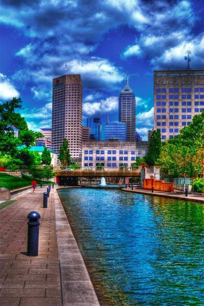 Photograph - Downtown Indianapolis Canal by David Haskett II