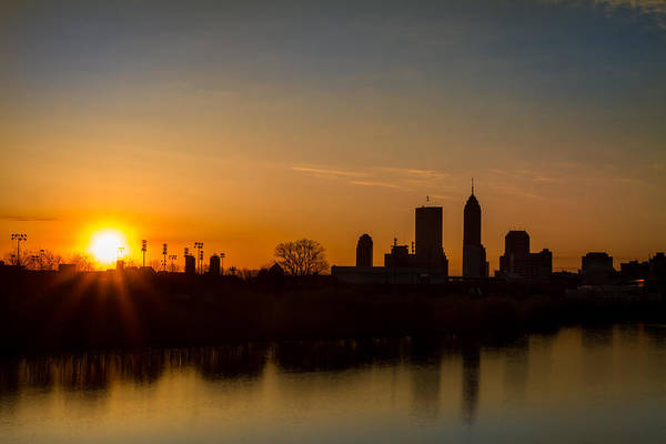 Photograph - Downtown Indianapolis Sunrise by Ron Pate
