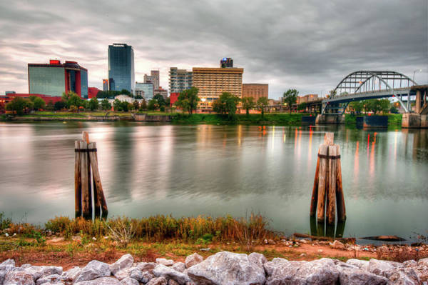 Photograph - Downtown Little Rock Arkansas Skyline On The Water by Gregory Ballos