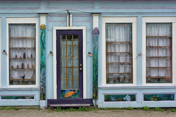 Storefront Photograph - Downtown Lubec by Robert Fawcett