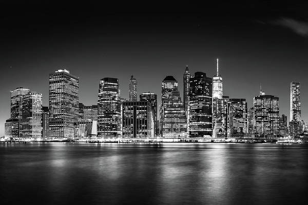 Wall Art - Photograph - Downtown Manhattan Bw by Az Jackson