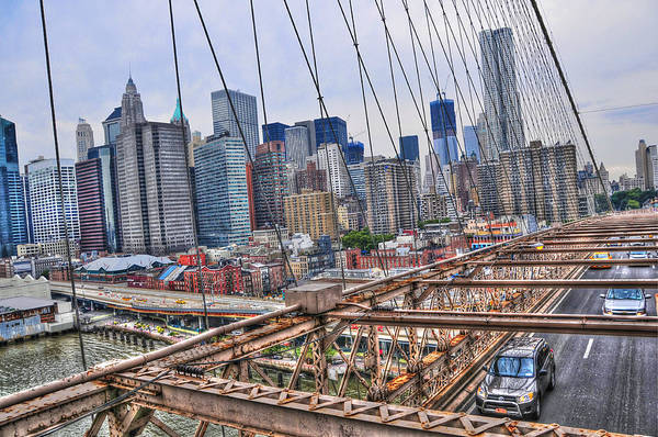 Wall Art - Photograph - Downtown Manhattan From The Brooklyn Bridge by Randy Aveille
