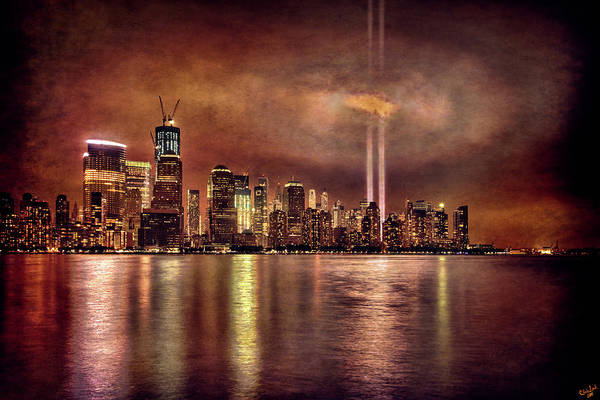 Photograph - Downtown Manhattan September Eleventh by Chris Lord