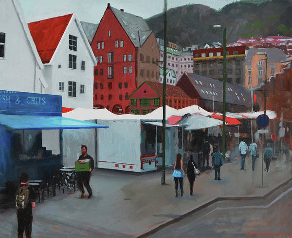 Fish Market Art Print by Arild Amland