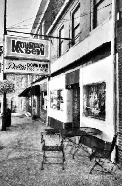 Photograph - Downtown Maysville Kentucky # 3 Black And White by Mel Steinhauer