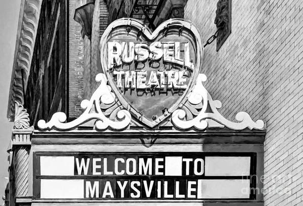 Photograph - Downtown Maysville Kentucky # 4 Black And White by Mel Steinhauer