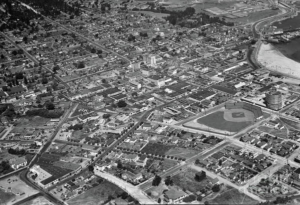 Photograph - Downtown Monterey Ted Mckay Photo March 1938 by California Views Archives Mr Pat Hathaway Archives