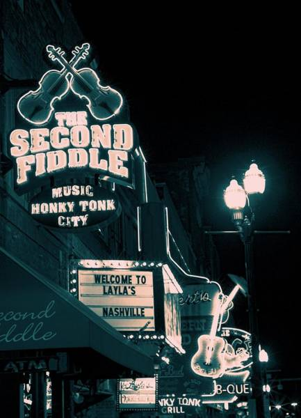Photograph - Downtown Music City At Night by Dan Sproul