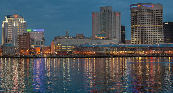 Photograph - Downtown Norfolk Virginia Skyline by Jerry Gammon