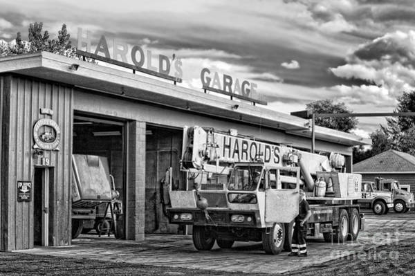 Wall Art - Photograph - Downtown Northampton - Harold's Garage by HD Connelly