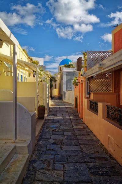 Photograph - Downtown Oia Santorini by Adam Rainoff