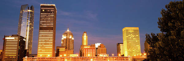 Photograph - Downtown Oklahoma City Skyline Panorama by Gregory Ballos