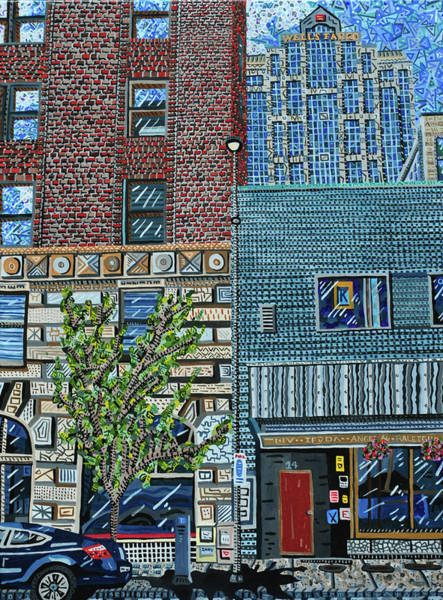 Wall Art - Painting - Downtown Raleigh - West Martin Street by Micah Mullen