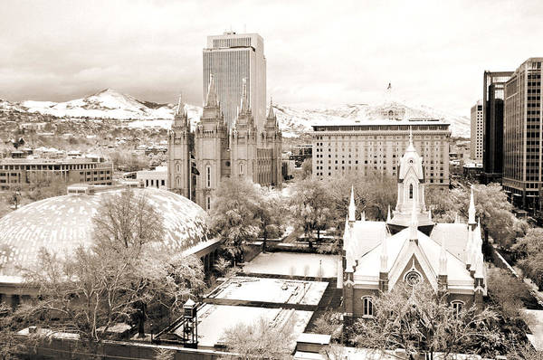 Photograph - Downtown Salt Lake City by Marilyn Hunt