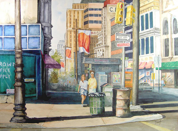 Painting - Downtown by Sam Sidders