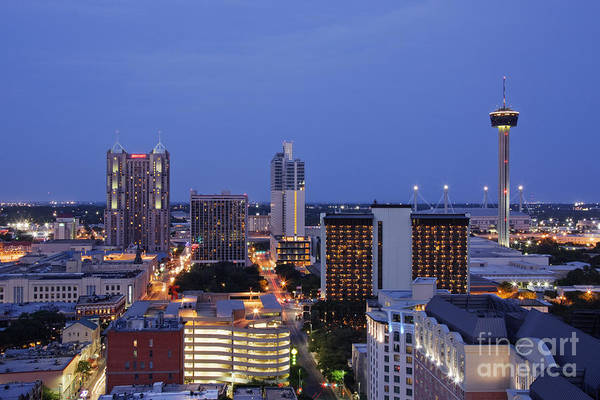 Wall Art - Photograph - Downtown San Antonio At Night by Jeremy Woodhouse