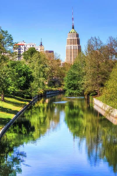 Photograph - Downtown San Antonio Skyline On The River by Gregory Ballos