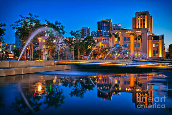 Downtown San Diego Waterfront Park Art Print