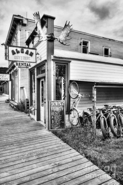 Photograph - Downtown Skagway 3 Bw by Mel Steinhauer