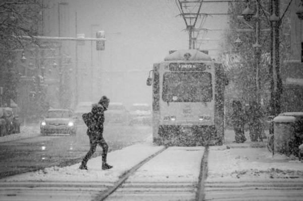 Photograph - Downtown Snow Storm by Stephen Holst