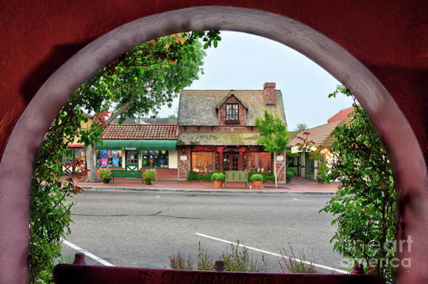 Solvang Photograph - Downtown Solvang by Eddie Yerkish
