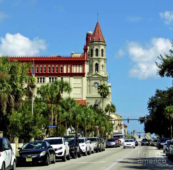 Pedro Menendez Photograph - Downtown St Augustine by D Hackett