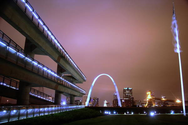 Photograph - Downtown St. Louis From The East Side by David Coblitz