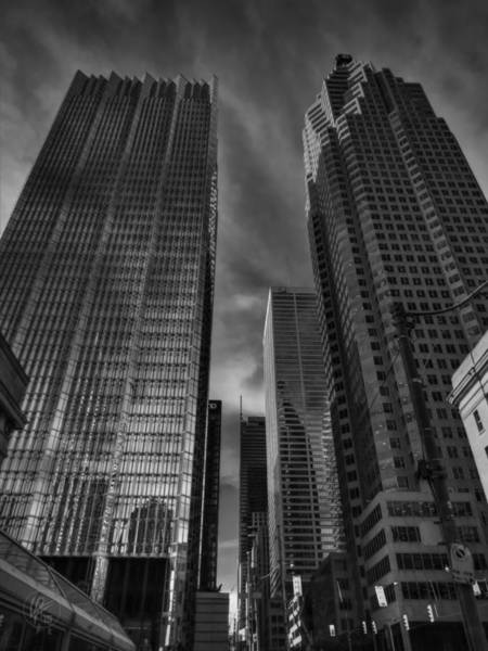 Photograph - Downtown Toronto 003 Bw by Lance Vaughn