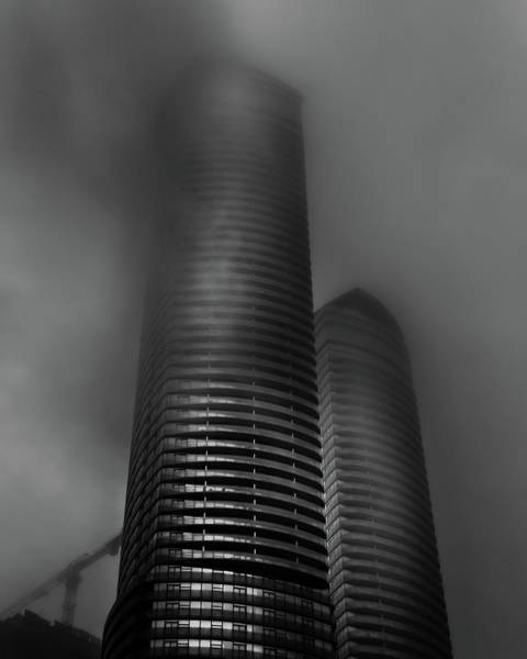 Photograph - Downtown Toronto Fogfest No 20 by Brian Carson