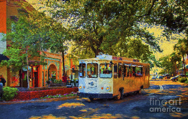 Photograph - Downtown Trolley by Dave Bosse