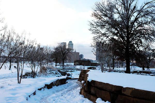 Photograph - Downtown Tulsa From Centennial Park by Susan Vineyard