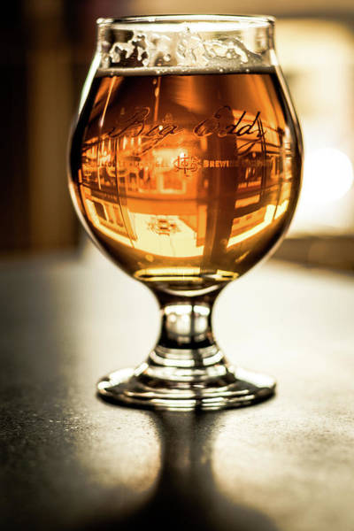 Photograph - Downtown Waukesha Through A Glass Of Beer At Bernie's Taproom by Jeanette Fellows