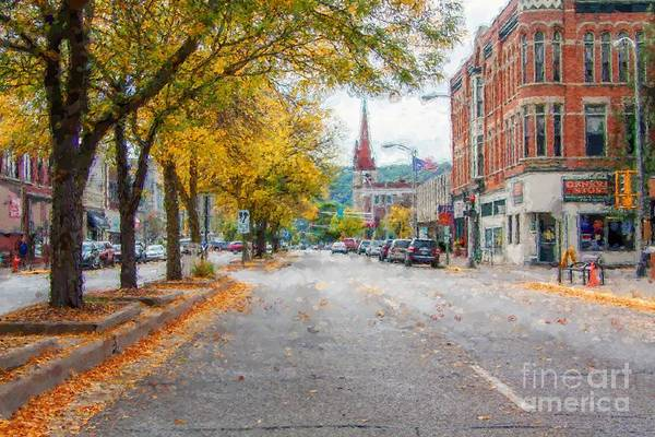 Photograph - Downtown Winona Painting Effect by Kari Yearous