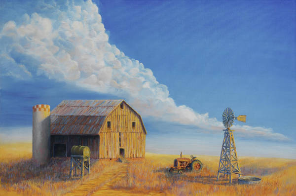 Farmstead Painting - Downtown Wyoming by Jerry McElroy