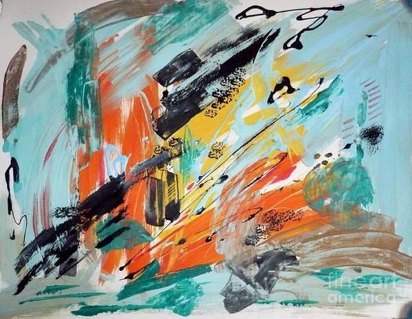 Follow Me Painting - Downtown by Yael Eylat-Tanaka