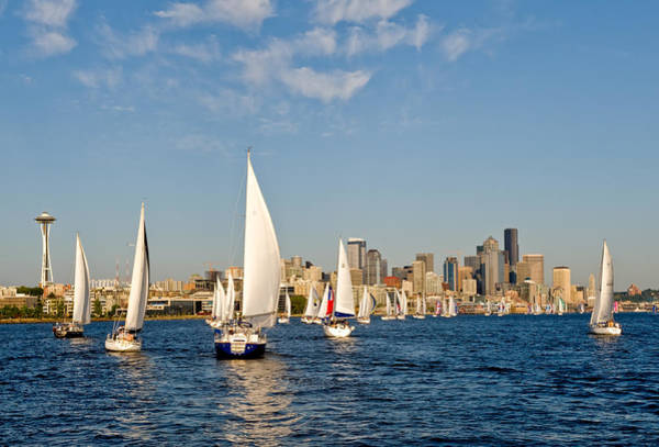 Downtwon Seattle Waterfront Art Print by Tom Dowd