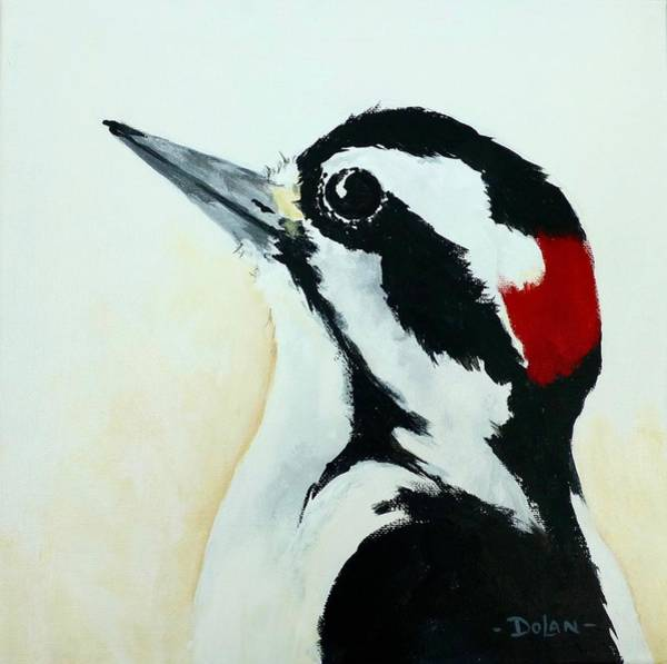 Painting - Downy  Woodpecker by Pat Dolan