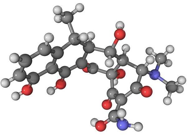 Wall Art - Photograph - Doxycycline Antibiotic Molecule by Laguna Design