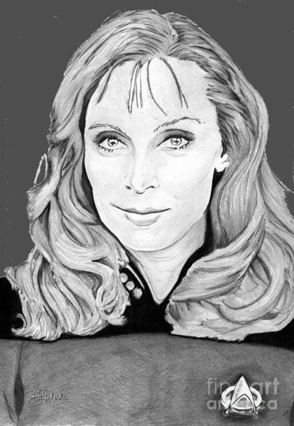 Drawing - Dr. Beverly Crusher by Bill Richards