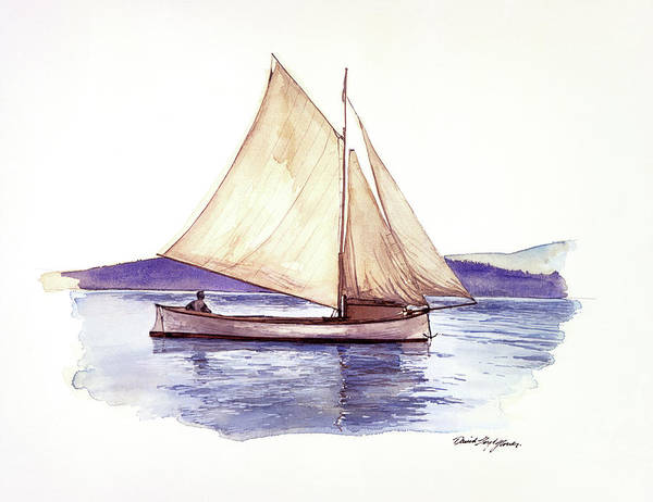 Painting - Dr Charles Newcombe Sailing by David Lloyd Glover