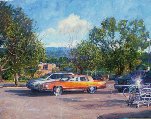 Wall Art - Painting - Dr Chicken's Cadillac by Edward Thomas