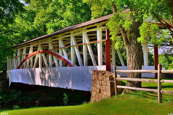 Photograph - Dr. Knisley Covered Bridge 2 by Lisa Wooten
